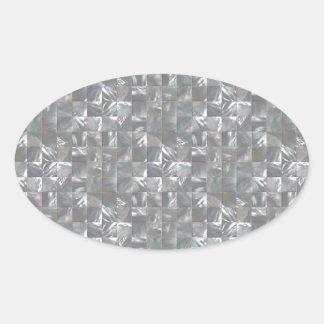 Teste padrão Azul-Cinzento do azulejo da Adesivo Oval