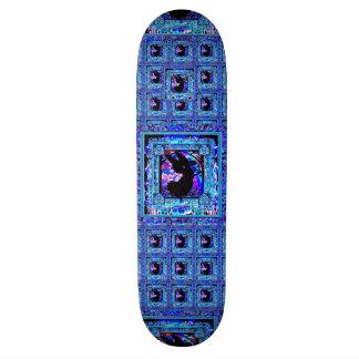 Teste padrão azul com a silhueta preta do anjo shape de skate 18,1cm