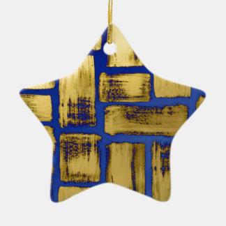 Teste padrão azul da aguarela do Brushstroke do Ornamento De Cerâmica
