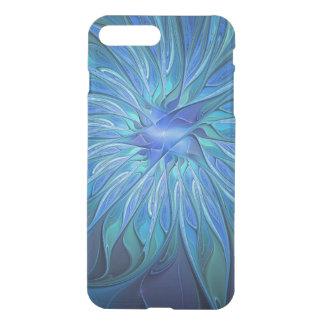 Teste padrão azul da fantasia da flor, arte capa iPhone 7 plus