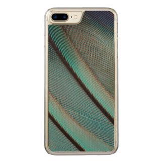 Teste padrão azul da pena capa iPhone 8 plus/ 7 plus carved