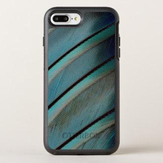 Teste padrão azul da pena capa para iPhone 8 plus/7 plus OtterBox symmetry