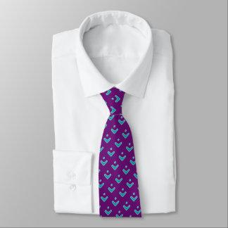 Teste padrão azul da seta gravata