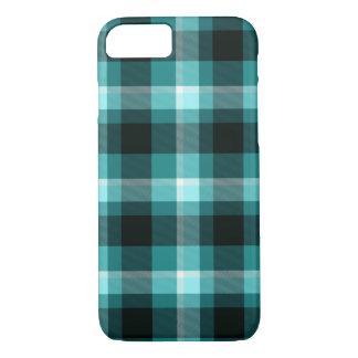 Teste padrão azul da xadrez capa iPhone 8/ 7
