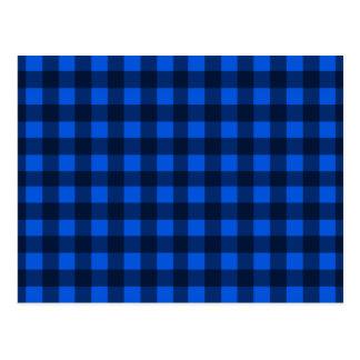 Teste padrão azul da xadrez cartão postal