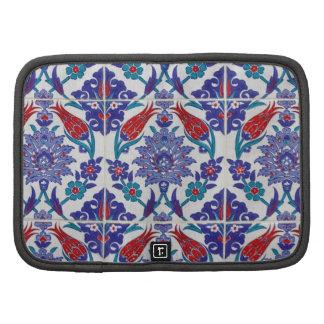 Teste padrão azul do azulejo de mosaico organizadores