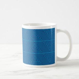 teste padrão azul do triângulo caneca de café