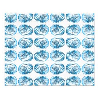Teste padrão azul dos escudos panfletos personalizados