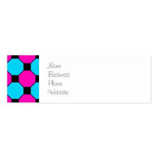 Teste padrão azul dos hexágonos dos quadrados cartão de visita skinny