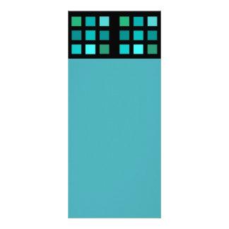 Teste padrão azul dos quadrados panfleto