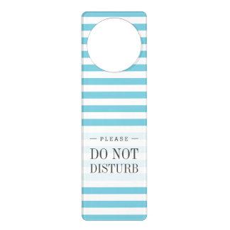 Teste padrão azul e branco da listra sinais de porta