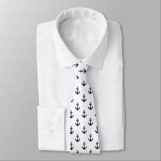 Teste padrão azul e branco das âncoras gravata