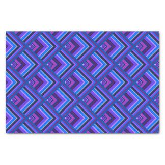 Teste padrão azul e roxo da escala das listras papel de seda