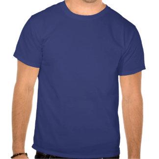 Teste padrão azul especial do coração camiseta