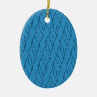 Teste padrão azul ornamento de cerâmica oval