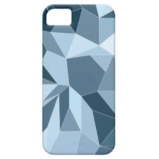 Teste padrão azul protegido diamante de Giometric Capa Barely There Para iPhone 5