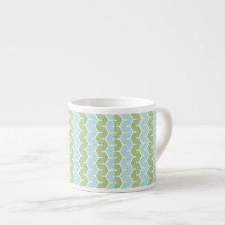 Teste padrão azul verde-oliva de Chainlink Xícara De Espresso