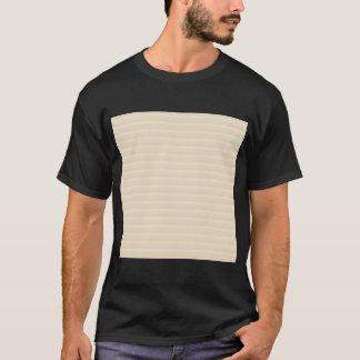 Teste padrão bege da listra da cor de Tan Tshirts