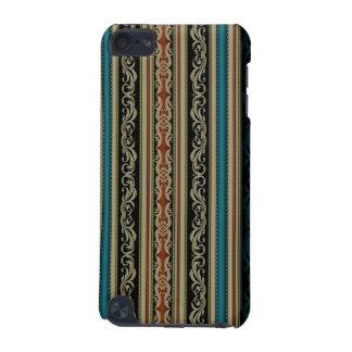 Teste padrão bege elegante das listras capa para iPod touch 5G