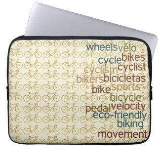 teste padrão biking do ~ das palavras das capas para computadores