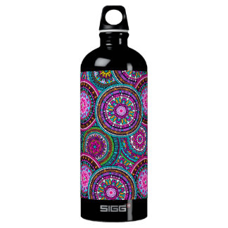 Teste padrão boémio brilhante do chique do hippy garrafa d'água de alumínio