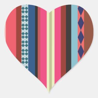 Teste padrão boliviano adesivo coração