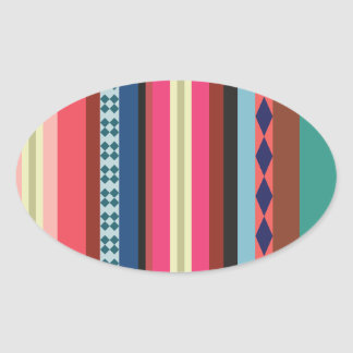 Teste padrão boliviano adesivo oval