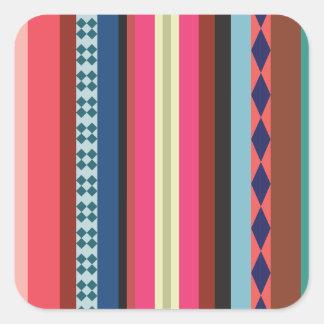Teste padrão boliviano adesivo quadrado