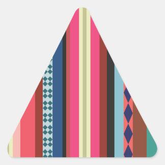Teste padrão boliviano adesivo triangular