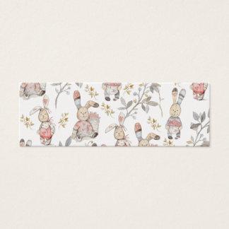 Teste padrão bonito da aguarela dos coelhinhos da cartão de visitas mini