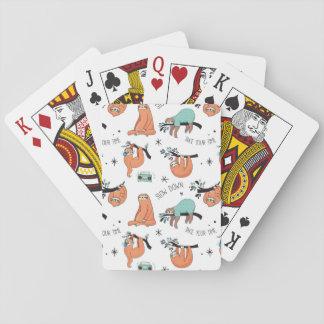 Teste padrão bonito da preguiça cartas de baralho