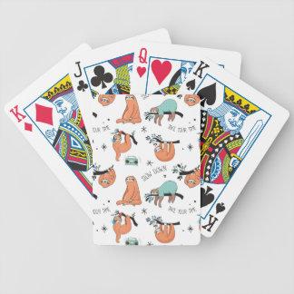 Teste padrão bonito da preguiça cartas de baralhos