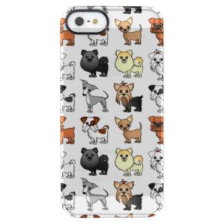 Teste padrão bonito da raça do cão de brinquedo capa para iPhone SE/5/5s clear