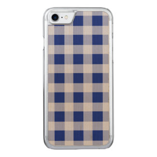 Teste padrão bonito da verificação do guingão dos capa iPhone 7 carved