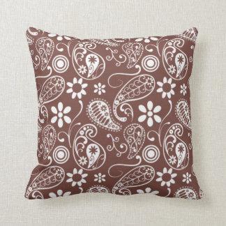 Teste padrão bonito de Brown Paisley Travesseiro De Decoração