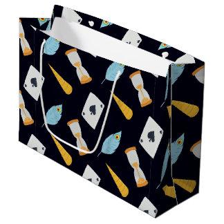 Teste padrão bonito do conto de fadas sacola para presentes grande