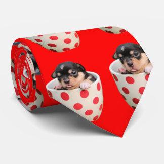 Teste padrão bonito do filhote de cachorro do gravata