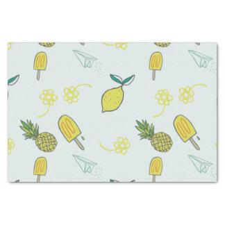 Teste padrão bonito do limão papel de seda