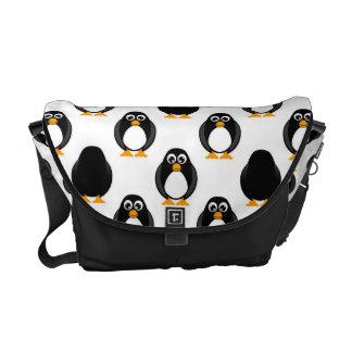 Teste padrão bonito do pinguim bolsa mensageiro