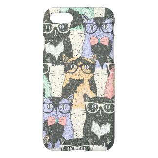 Teste padrão bonito dos gatos do hipster capa iPhone 7