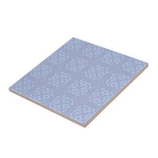 Teste padrão bonito, feminino, floral - luz - azul azulejos