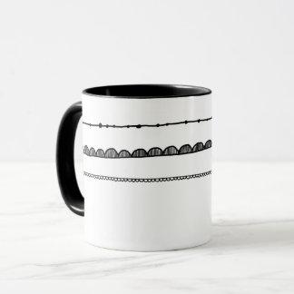 Teste padrão bonito preto e branco da caneca | do