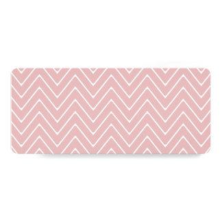 Teste padrão branco 2A de Chevron do rosa de bebê Convite 10.16 X 23.49cm