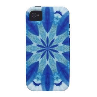 teste padrão branco azul mf capas para iPhone 4/4S