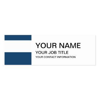 Teste padrão branco das listras dos azuis marinhos cartão de visita skinny