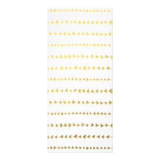 Teste padrão branco das setas da folha de ouro do 10.16 x 22.86cm panfleto