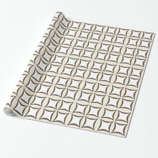 Teste padrão branco de creme das formas de Brown Papel De Presente