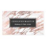 Teste padrão branco e cor-de-rosa elegante chique cartão de visita