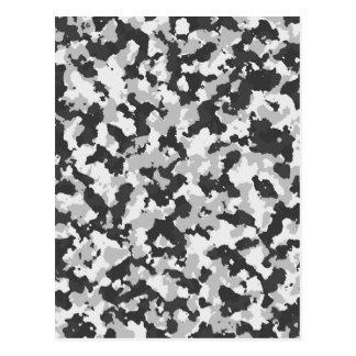 Teste padrão branco e preto de Camo Cartão Postal