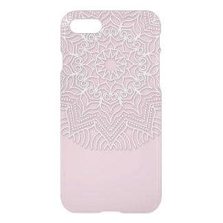 Teste padrão branco feito sob encomenda da mandala capa iPhone 7